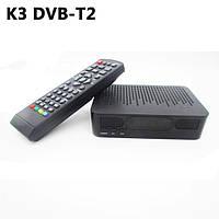 """ТВ тюнер K3 DVB-T2 HDMI, USB, RCA, Пульт ДУ. Black"""""""