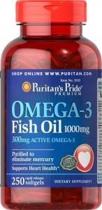 Puritan's Pride Omega 3 (1000 мг) 100 софтгель