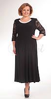Платье Pretty-395/1 белорусский трикотаж, черный, 50