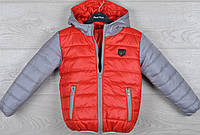"""Куртка демисезонная """"Combi"""" 2-3-4-5-6 лет (92-116 см). Красная с серым. Оптом., фото 1"""