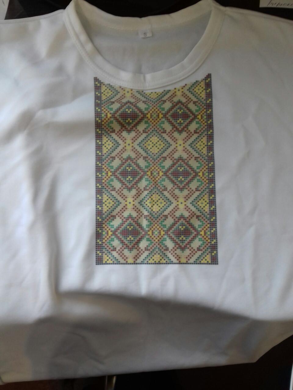 Мужская футболка для вышивки бисером. Размер S