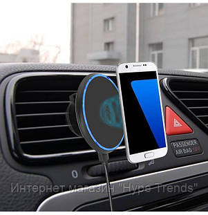 Универсальный автомобильный держатель телефона с беспроводной зарядкой для iPhone. В Украине, в Одессе, фото 2