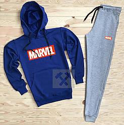 Спортивный костюм Marvel синего и серого цвета (люкс копия)