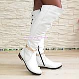 Ботфорты кожаные белого цвета. Зимние на меху., фото 2