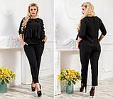 Женский костюм с укороченными брюками костюмка 42-44 44-46 48-50 52-54, фото 3