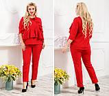 Женский костюм с укороченными брюками костюмка 42-44 44-46 48-50 52-54, фото 4