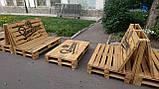 Диван из поддонов, мебель из паллет, фото 4