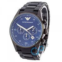 Наручные часы Emporio Armani AAA Black-Blue Silicone
