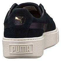 """Кроссовки Puma Suede Platform Mono Satin """"Black"""" (Черные), фото 2"""