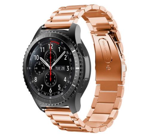 Металевий ремінець Primo для годин Samsung Gear S3 Classic SM-R770/Frontier RM-760 - Rose Gold