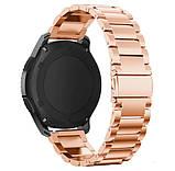 Металевий ремінець Primo для годин Samsung Gear S3 Classic SM-R770/Frontier RM-760 - Rose Gold, фото 2