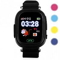 Детские умные смарт часы дитячий годинник Q90 Q100 Smart Baby Watch с GPS и  кнопкой SOS 2d9ab5e122ad9