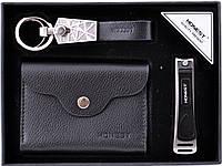 Подарочный набор-визитница(мет)/брел/визит(кожа)