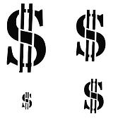 """Трафарет """"Доллары"""""""