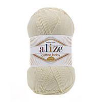 Пряжа Alize Cotton Baby Soft кремовый