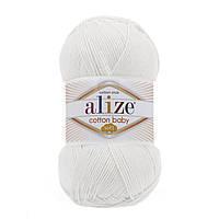 Пряжа Alize Cotton Baby Soft белый