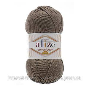 Пряжа Alize Cotton Baby Soft Серый