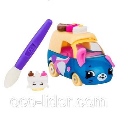 """Міні-машинка SHOPKINS CUTIE CARS S3 серії """"МІНЯЄМО КОЛІР"""" - РАЛІ-РОЖОК (з міні-шопкинсом і пензликом)"""