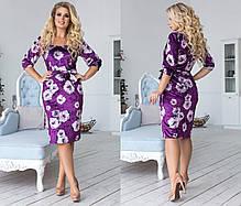Платье миди велюр 702076, фото 2