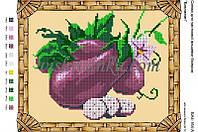"""Схема для вышивки бисером """"Овочі. Баклажан"""""""