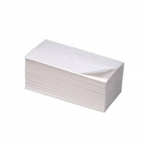 Полотенце бумажное белое 2 слоя целлюлоза VV сложение 160 шт/уп, 21 см.