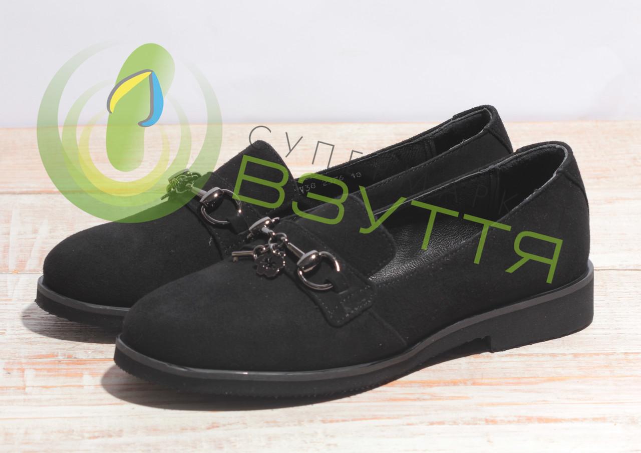 Туфлі жіночі замшеві арт 2576 чер 37, 38, 39, 40 розміри