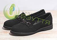Туфлі жіночі замшеві арт 2576 чер 37, 38, 39, 40 розміри, фото 1