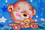 Пледик детский (флисовый) Мишка, фото 2