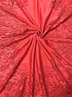 Женский красный гипюровый шарф (цв.2) - купить на Kosinka.net