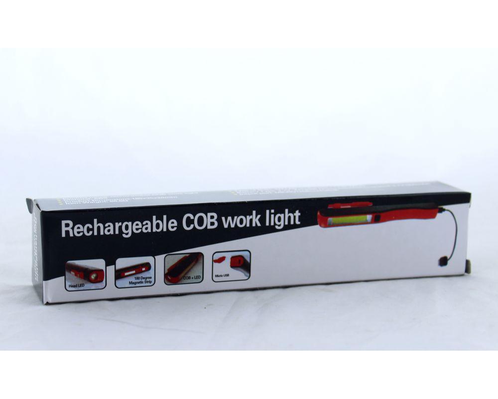 Аккумуляторный фонарик с магнитом и USB зарядкой Esen 86A COB USB