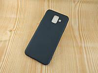 TPU Черный матовый силиконовый чехол бампер для Samsung Galaxy A6 (2018) A600