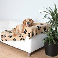 Коврик для собак Trixie Barney 150*100см, бежевый с лапками (37181)