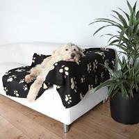Коврик для собак Trixie Barney 150*100см, черный с лапками (37182)