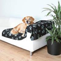 Коврик для собак Trixie Barney 150*100см, черный с лапками (37183)