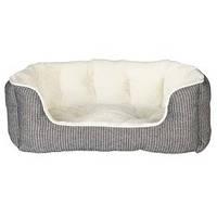 Лежак собак и котов Trixie Davin 60*45см серый в полоску/кремовый (38975)