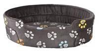 Лежак для собак Trixie Jimmy 95*85см серый с лапками (37036)
