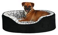 Лежак для собак Trixie Lino vital 110*92см черный/серый с ортопедическим эффектом (37253)