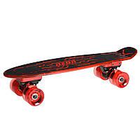 Скейтборд Hype, черный с красным, Neon (N100788)