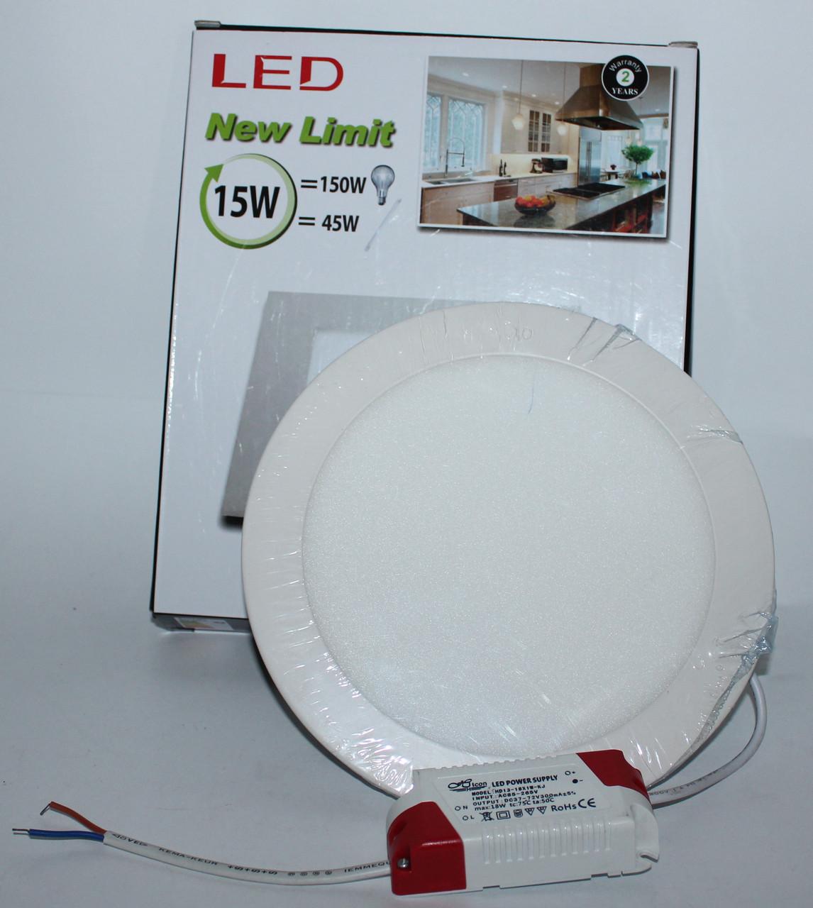 Потолочная LED лампа встраиваемая, круглая, фото 1