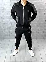 Спортивный костюм Philipp Plein D2801 черный с капюшоном