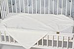 """Плед детский флисовый  с выдавленым рисунком  """"Слоники"""" молочного цвета, фото 5"""