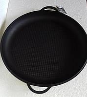 Крышка-сковорода чугунная, эмалированная. Диаметр 450 мм, рифленое дно, фото 1