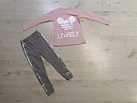Комплект 2 в 1 для девочек оптом, 116-152 см,  № Lovely-1