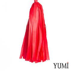 Декор: кисточка тассел красная (1шт)