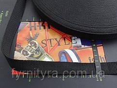 Тесьма сумочная, стропа 2.0 см черная