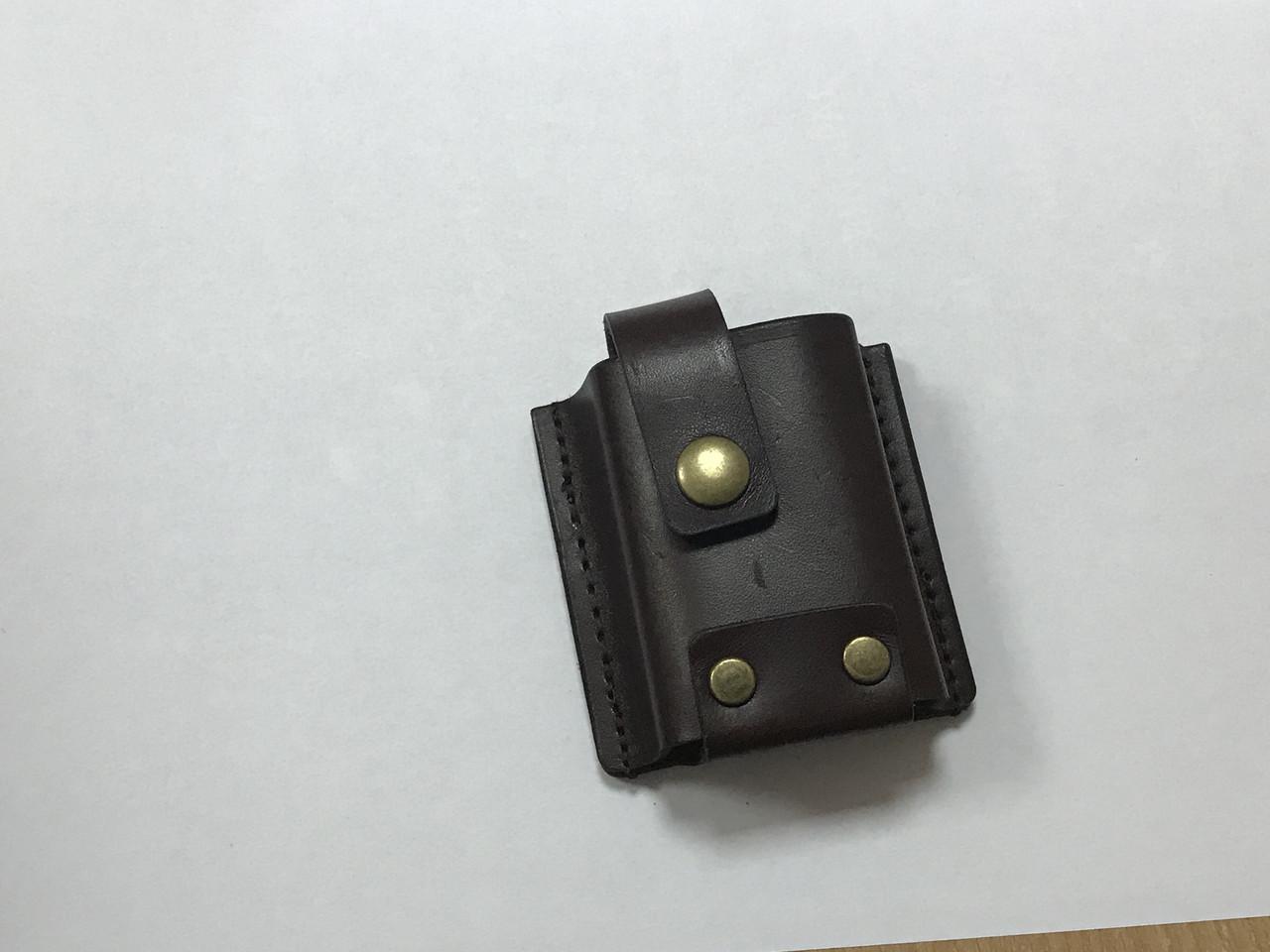 Чехол Hand Made, итальянская кожа, (8х4,5 см)