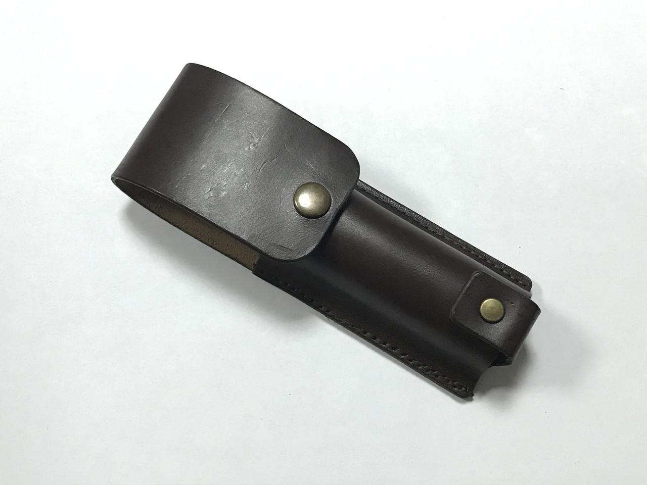 Чехол Hand Made, итальянская кожа, (15х3,5 см)