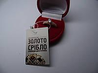 Женское золотое кольцо с цирконами, Размер 16, фото 1