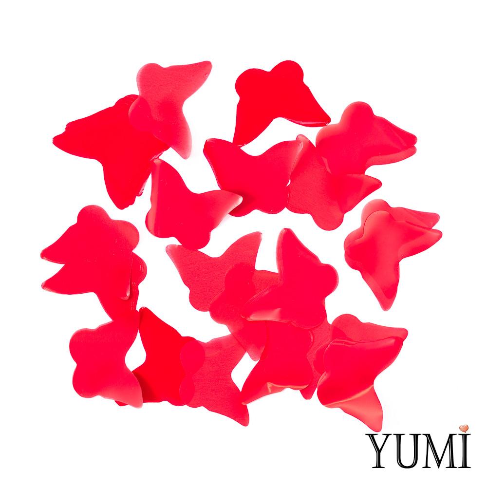 Конфетти бабочки красные, 35 мм