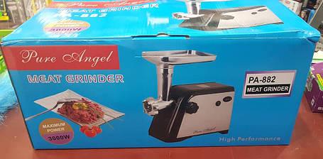 Электромясорубка + соковыжималка Pure Angel PA-882 (реверс) 3000W, фото 2